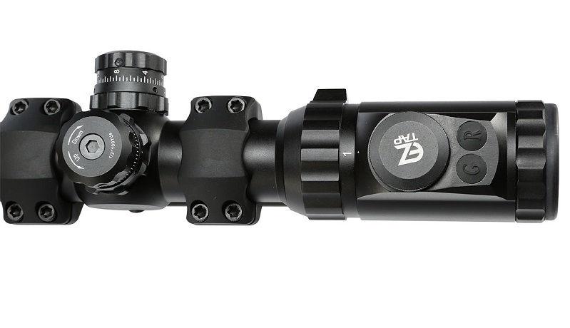 Прицел Leapers Accushot T8 Tactical 1-8X28 SFP сетка BG4 с подсветкой из 36 цветов оптический с моноблоком