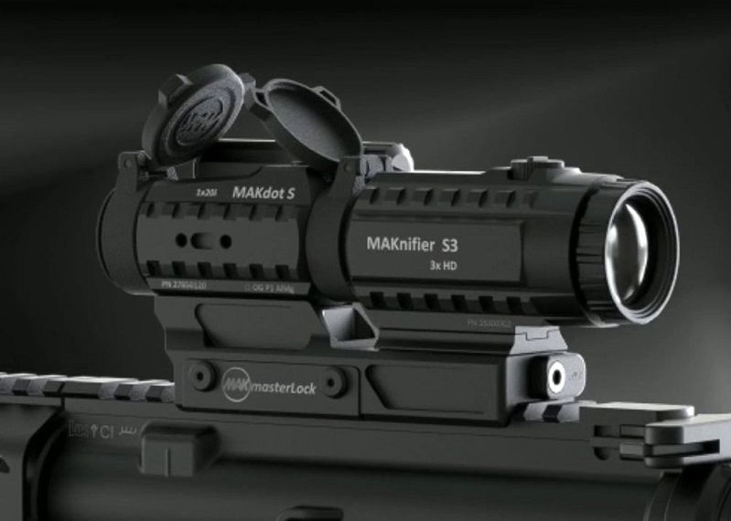 Прицел MAKdot S с точкой 2 МОА и креплением на Weaver коллиматорный