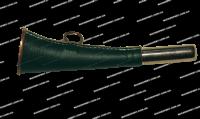 Горн охотничий латунный с кожанной отделой плоский 16 см