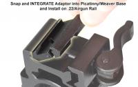 Адаптер - переходник Leapers с ласточкиного хвоста 10 - 12 мм на Picatinny / Weaver низкий