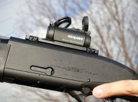 Коллиматорный прицел Aimpoint Micro H-2 с точкой 2 МОА и защитными крышками на ласточкин хвост 11 - 13 мм