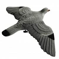 Чучело голубя (вяхирь) парящий с флокированным покрытием комплект 2 штуки