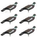 Чучело Stepland group голубя вяхиря (ракушка) пустотелое в наборе из 6 штук