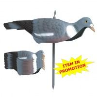 Чучело Sport Plast голубя вяхиря (ракушка) полукорпусное на колышке в наборе из 6 штук