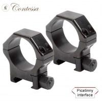 Кольца Contessa Alessandro 30 мм на Picatinny / Weaver легкосьемные стальные