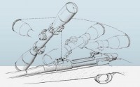 Кронштейн EAW Apel с кольцами 26 mm на Browning BAR / Benelli Argo поворотный для калибров стандарт