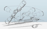 Кронштейн EAW Apel  с кольцами 30 мм на Tikka T3 / Sako TRG 21 / 41 / 22 / 42 поворотный