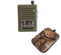 Электронный манок Егерь - 56D с  динамиком рупорного типа Егерь - 2 в чехлах и сумкой для переноски