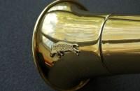 Горн охотничий круглый длиной 50 см из латуни