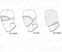 Мультимаска Hillman флисовая мультифункциональная цвет OAK