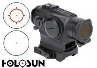 Прицел Holosun Micro Elite с красной сменной маркой + U-защита + откидные крышки в титановом корпусе