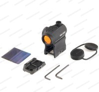 Коллиматорный прицел Holosun Paralow с батареей сбоку + кронштейн для AR-15 с красной точкой