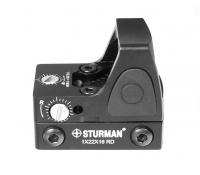Прицел коллиматорный Sturman 1x22x16 RD с точкой 4 МОА на Weaver