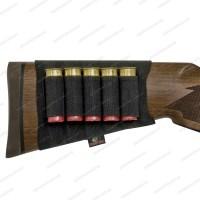 Патронташ Mossy Oak на приклад для гладкоствольного и нарезного оружия, черный