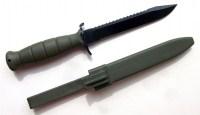 Нож Glock Feldmesser 81 зеленый тактический с пилой