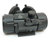 Коллиматорный прицел Leapers UTG 1х30 Compact с двухцветной точкой 4 МОА на Weaver быстросъемный