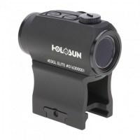 Коллиматорный прицел Holosun Micro Elite с батареей сбоку + кронштейн для AR-15 с зеленой точкой