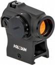 Коллиматорный прицел Holosun Micro Elite с батареей сбоку + кронштейн для AR-15+ U-защита с золотой точкой