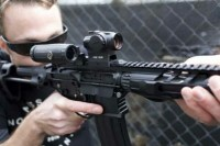 Коллиматорный прицел Holosun Micro HS503R с батареей сбоку марка сменная + кроншт. (AR-15) + U-защита