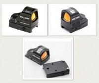Коллиматорный прицел Holosun Open Reflex micro с солнечной батареей и тремя марками красного цвета
