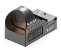 Прицел MAKdot 1x25 Reflexvisier с точкой 3 МОА и креплением на Weaver коллиматорный
