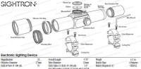 Коллиматорный прицел Sightron S 33-4R прицельная марка 1 / 2 / 4 / 8 МОА