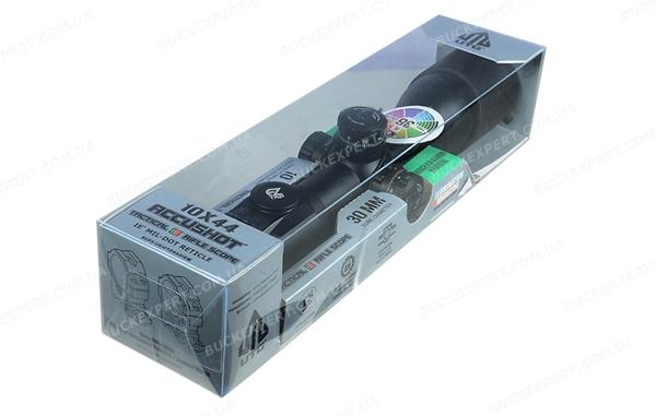 Прицел Leapers Accushot Tactical 10X44 Compact подсветка 36 цв АО сетка на линзе Mil-Dot
