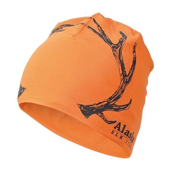 Шапка Alaska хлопковая двухслойная оранжевая