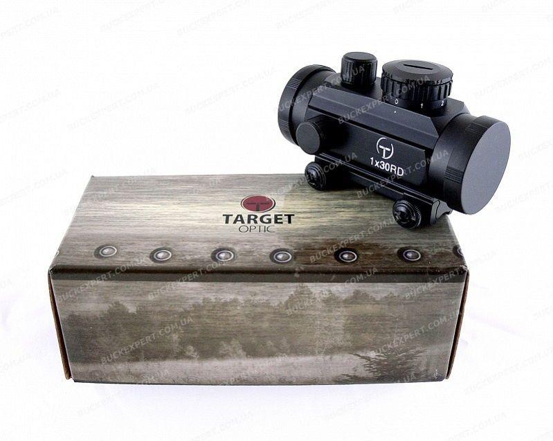 Коллиматорный прицел Target Optic 1х30 с точкой 5 МОА на Weaver