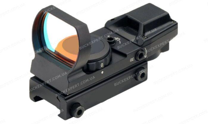 Коллиматорный прицел Target Optic 1X33 с двухцветной мульти сеткой на Weaver