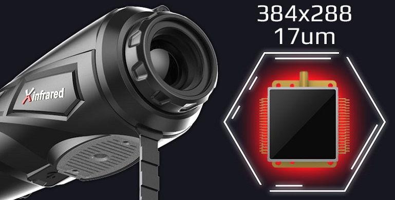 Тепловизор iRay Xeye E3plus V2 с матрицей 384х288 / 12um / Wi-Fi на 25 мм обьективе и стадиометрическим дальномером