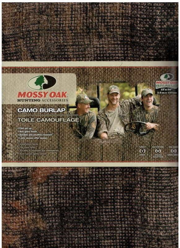 Камуфляжная ткань Mossy Oak для создания засидки тканая рогожа в цвете Mossy Oak Break-Up
