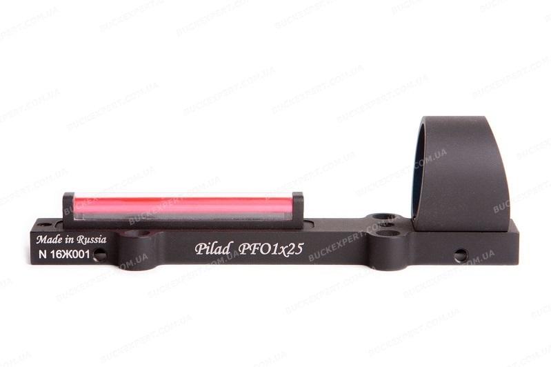 Коллиматорный прицел Пилад PFO (ВОМЗ) на планку волоконно - оптический с точкой 3 МОА